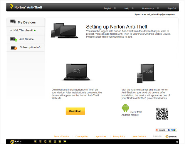 Обзор Norton Anti-Theft