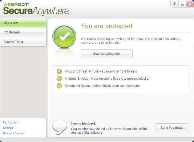 Обзор Webroot SecureAnywhere Antivirus